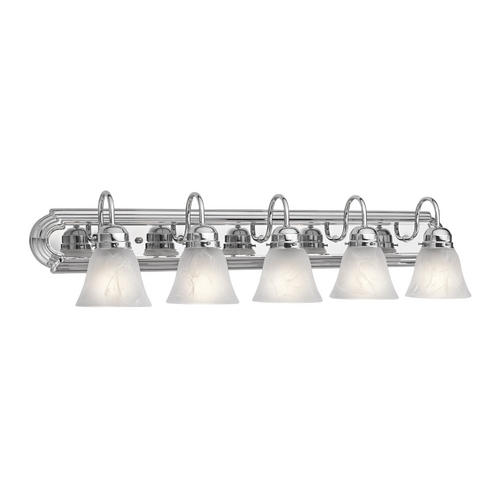 Kichler Lighting Kichler Bathroom Light with Alabaster Glass in Chrome Finish 5339CH