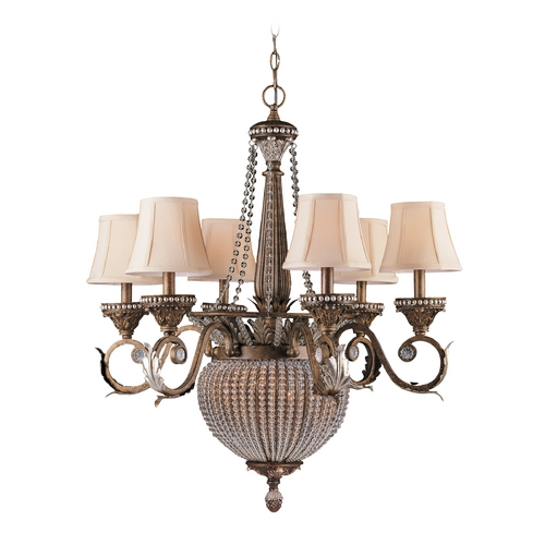 Crystorama Lighting Crystal Chandeliers in Weathered Patina Finish 6726-WP