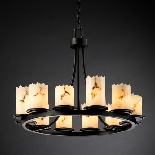 Justice Design Group Justice Design Group Lumenaria Collection Chandelier FAL-8768-12-MBLK