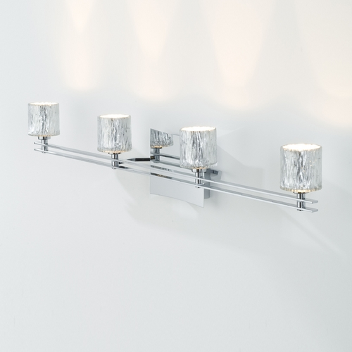 Holtkoetter Lighting Holtkoetter Modern Bathroom Light with Silver Glass in Chrome Finish 5584 CH G5031