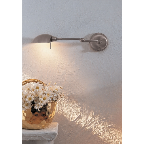 Holtkoetter Lighting Holtkoetter Swing Arm Lamp in Satin Nickel Finish 522 SN
