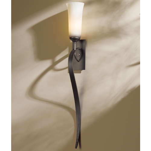 Hubbardton Forge Lighting Hubbardton Forge Lighting Sweeping Taper Dark Smoke Sconce 204529-07-ZX350