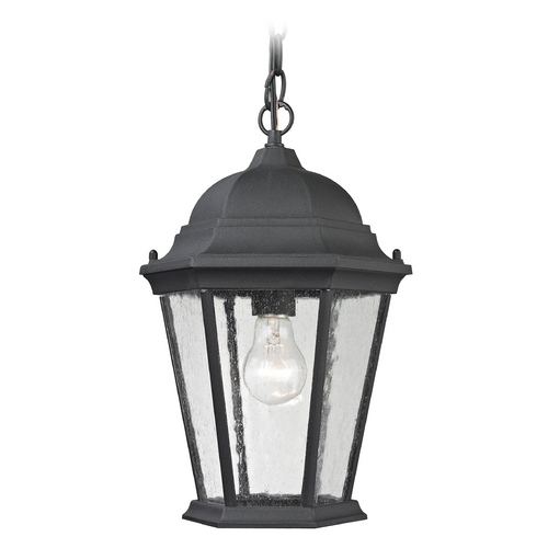 Cornerstone Lighting Cornerstone Lighting Temple Hill Matte Textured Black Outdoor Hanging Light 8101EH/65