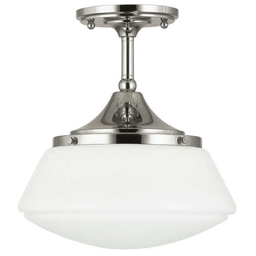 Capital Lighting Capital Lighting Polished Nickel Semi-Flushmount Light 3533PN-129