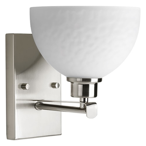 Progress Lighting Progress Lighting Legend Brushed Nickel Sconce P2087-09