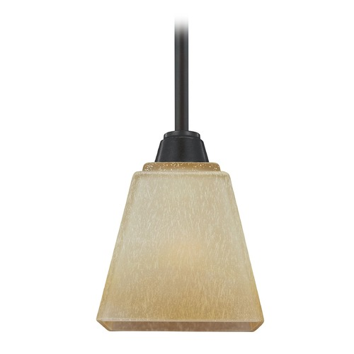 Sea Gull Lighting Sea Gull Lighting Parkfield Flemish Bronze Mini-Pendant Light with Square Shade 6113001-845