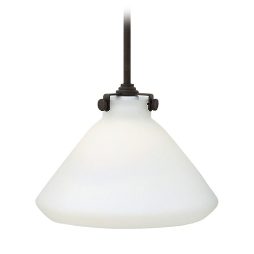 Hinkley Lighting Hinkley Lighting Congress Oil Rubbed Bronze Mini-Pendant Light with Conical Shade 3131OZ-GU24