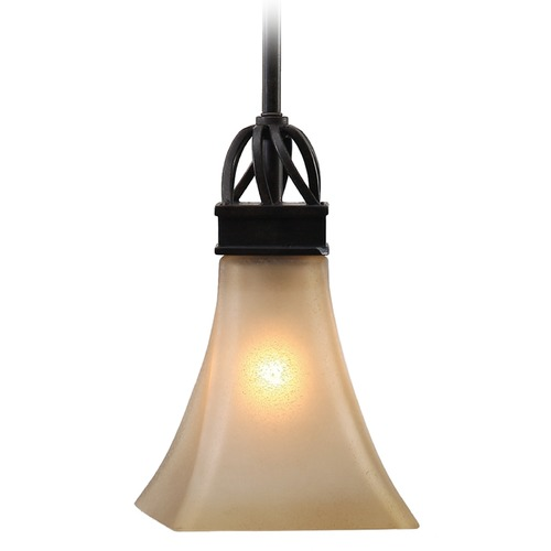 Golden Lighting Golden Lighting Genesis Roan Timber Mini-Pendant Light with Square Shade 1850-M1L RT
