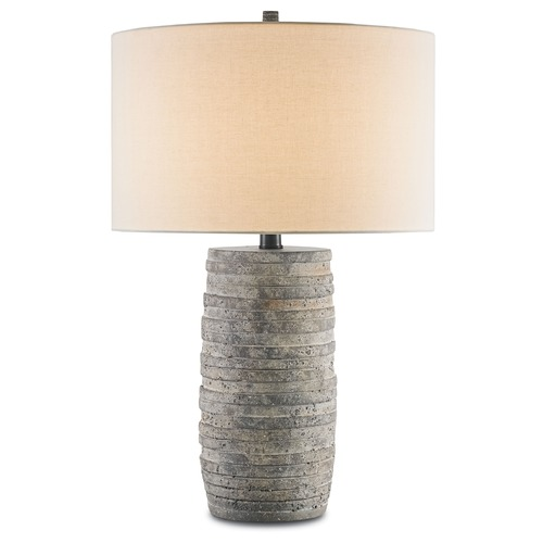 Currey and Company Lighting Currey and Company Inkeeper Rustic Table Lamp with Drum Shade 6782