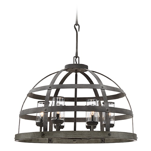 Savoy House Savoy House Lighting Aiken Winterwood Pendant Light with Cylindrical Shade 7-7091-6-49