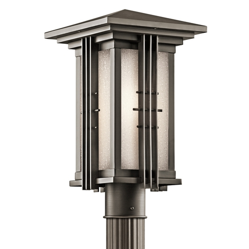 Kichler Lighting Kichler Post Light with White Glass in Olde Bronze Finish 49162OZ