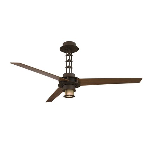 Minka Aire Modern Ceiling Fan with Light with White Glass F529-L-ORB