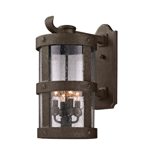 Troy Lighting Outdoor Wall Light with Clear Glass in Barbosa Bronze Finish B3313