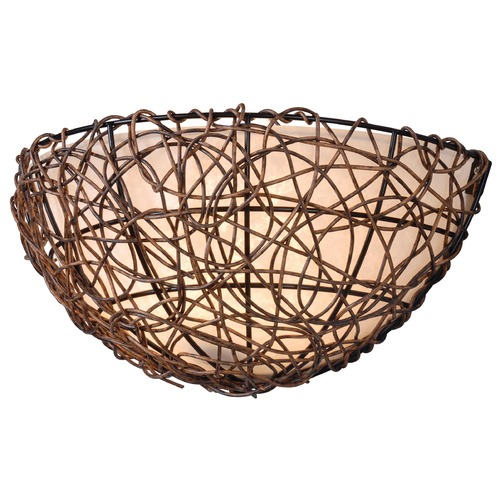 Kenroy Home Lighting Kenroy Home Lighting Thicket Rattan Sconce 93300RAT