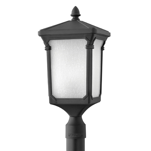 Hinkley Lighting Post Light with White Glass in Museum Black Finish 1351MB-GU24