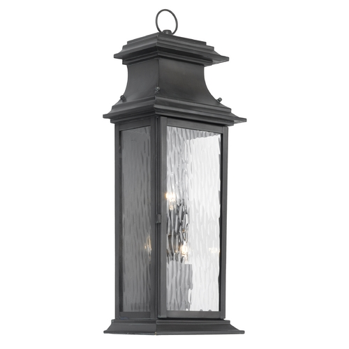 Elk Lighting Outdoor Wall Light with Clear Glass in Charcoal Finish 5727-C