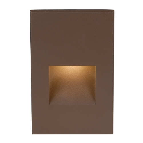 WAC Lighting WAC Lighting Bronze LED Recessed Step Light with White LED WL-LED200-C-BZ