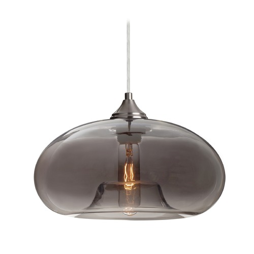 Besa Lighting Besa Lighting Bana Satin Nickel Pendant Light with Oblong Shade 1JT-BANATM-SN