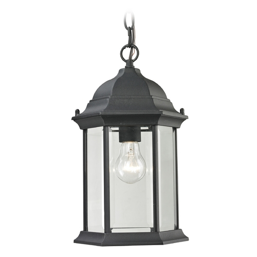 Cornerstone Lighting Cornerstone Lighting Spring Lake Matte Textured Black Outdoor Hanging Light 8601EH/65
