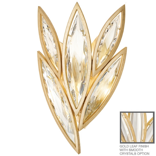 Fine Art Lamps Fine Art Lamps Marquise Florentine Brushed Gold Leaf Sconce 854050-21ST