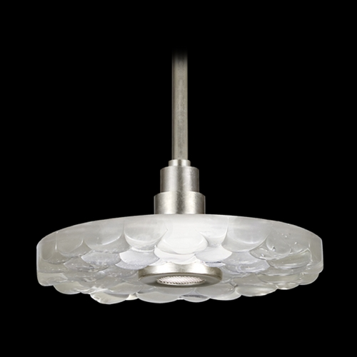 Fine Art Lamps Fine Art Lamps Crystal Bakehouse Silver Pendant Light with Drum Shade 823240-24ST
