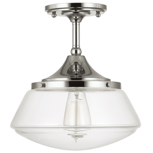 Capital Lighting Capital Lighting Polished Nickel Semi-Flushmount Light 3533PN-134