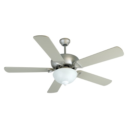 Craftmade Lighting Craftmade Lighting Leeward Brushed Satin Nickel Ceiling Fan with Light K10518