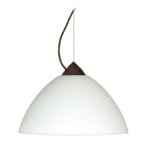 Besa Lighting Besa Lighting Porto Bronze LED Pendant Light with Bell Shade 1KX-420207-LED-BR