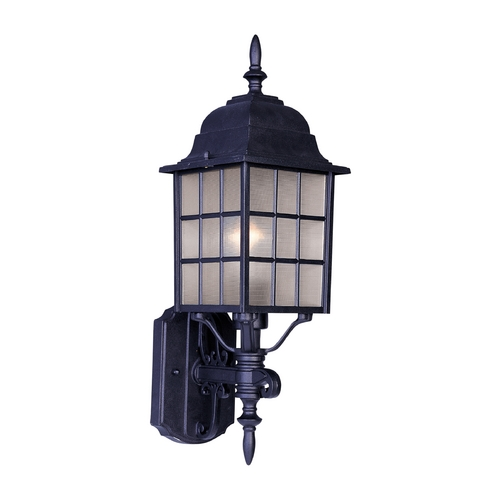 Maxim Lighting Outdoor Wall Light with Clear Glass in Black Finish 1050BK