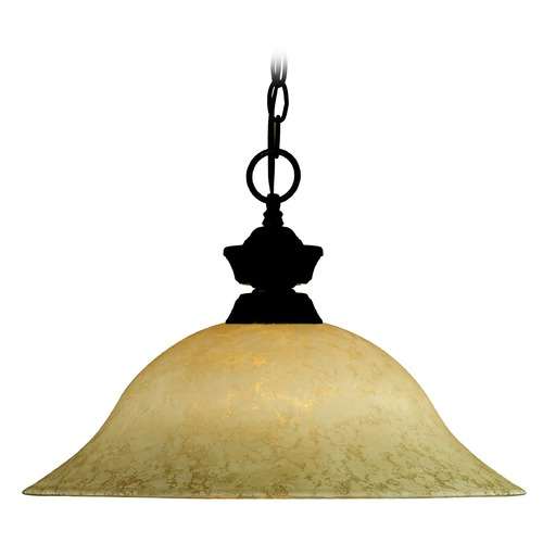 Z-Lite Z-Lite Pendant Lights Bronze Pendant Light with Bowl / Dome Shade 100701BRZ-GM16