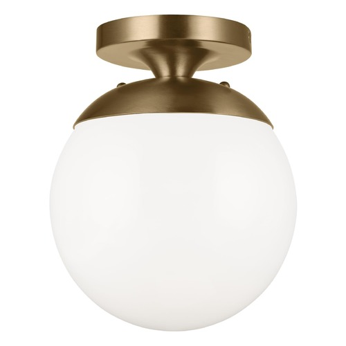 Sea Gull Lighting Sea Gull Lighting Leo - Hanging Globe Satin Bronze LED Semi-Flushmount Light 7518EN3-848