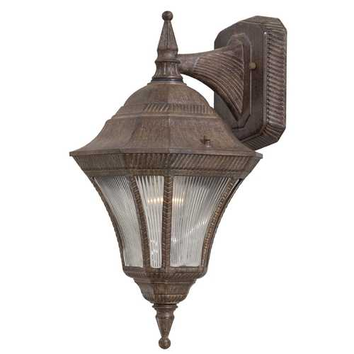 Minka Lavery Outdoor Wall Light with Clear Glass in Vintage Rust Finish 8202-61