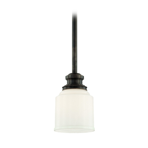 Hudson Valley Lighting Mini-Pendant Light with White Glass 3421-OB