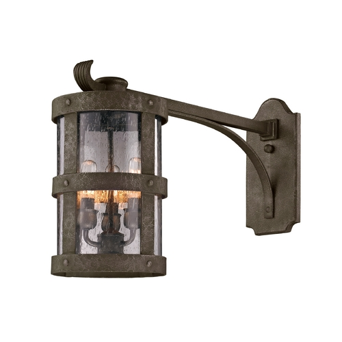 Troy Lighting Outdoor Wall Light with Clear Glass in Barbosa Bronze Finish B3315