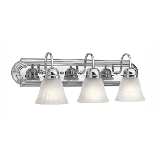 Kichler Lighting Kichler Bathroom Light with Alabaster Glass in Chrome Finish 5337CH