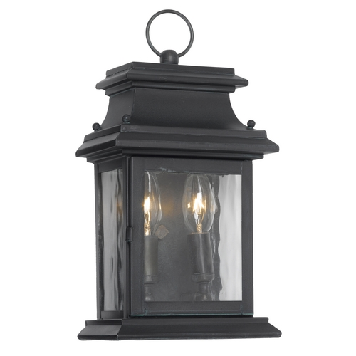 Elk Lighting Outdoor Wall Light with Clear Glass in Charcoal Finish 5726-C
