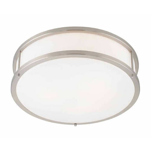 Access Lighting Access Lighting Conga Brushed Steel Flushmount Light C50080BSOPLEN1218BS