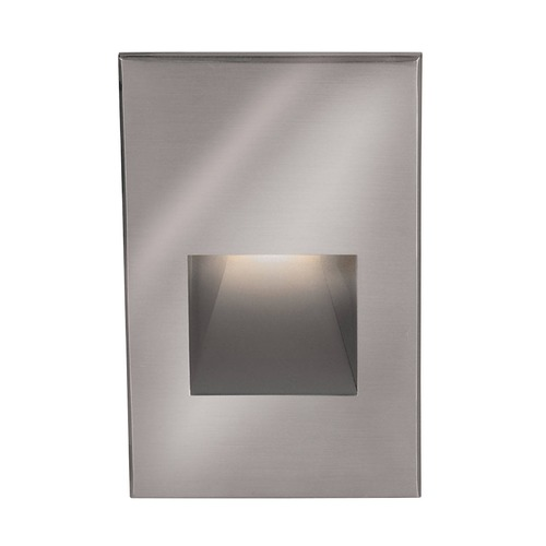 WAC Lighting WAC Lighting Stainless Steel LED Recessed Step Light with White LED WL-LED200-C-SS