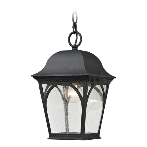 Cornerstone Lighting Cornerstone Lighting Cape Ann Matte Textured Black Outdoor Hanging Light 8301EH/65