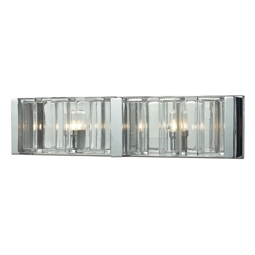 Elk Lighting Elk Lighting Corrugated Glass Polished Chrome Bathroom Light 11516/2