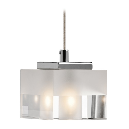 Elan Lighting Elan Lighting Considine Chrome Mini-Pendant Light with Rectangle Shade 83187