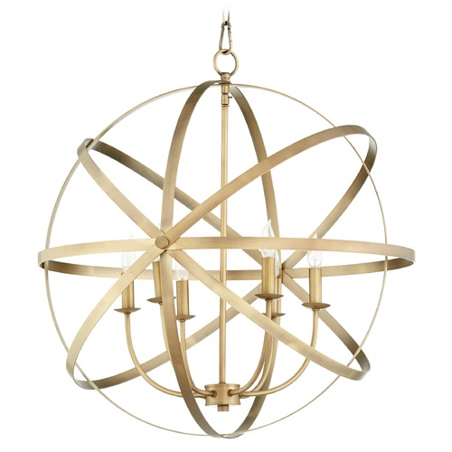 Quorum Lighting Quorum Lighting Celeste Aged Brass Pendant Light 6009-6-80