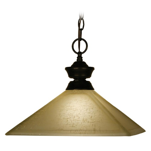 Z-Lite Z-Lite Pendant Lights Bronze Pendant Light with Square Shade 100701BRZ-MGL13