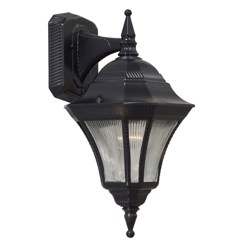 Minka Lavery Outdoor Wall Light with Clear Glass in Heritage Finish 8202-94