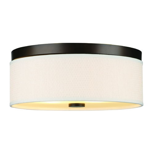 Philips Lighting Modern Flushmount Light with White Shade in Sorrel Bronze Finish F615020
