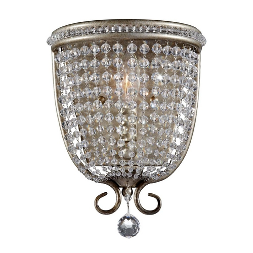 Feiss Lighting Sconce Wall Light in Burnished Silver Finish WB1586BUS