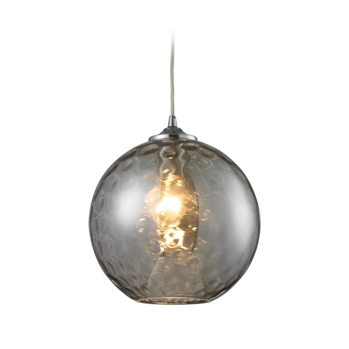 Elk Lighting Modern Mini-Pendant Light with Grey Glass 31380/1SMK-LA