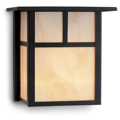 Design Classics Lighting Craftsman Style Outdoor Wall Light in Bronze 8 Inches Tall 395 BZ/HG