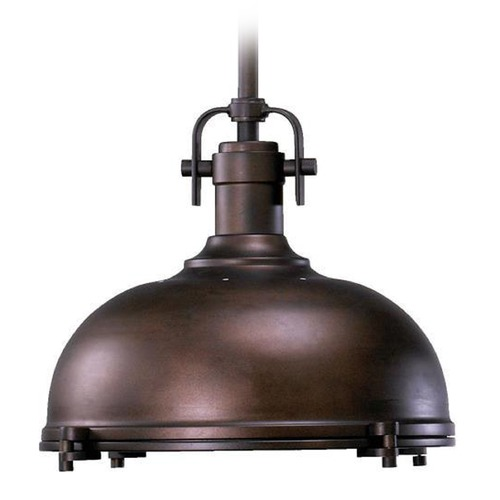 Quorum Lighting Quorum Lighting Oiled Bronze Pendant Light with Bowl / Dome Shade 804-17-86