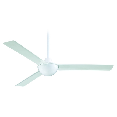 Minka Aire 52-Inch Modern Ceiling Fan Without Light in White Finish F833-WH